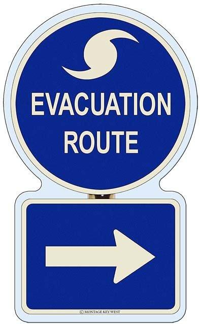 EVACUATION RIGHT * 7'' x 11'' 10228