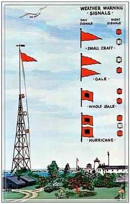 HURRICANE WARNING FLAGS * 6'' x 11''