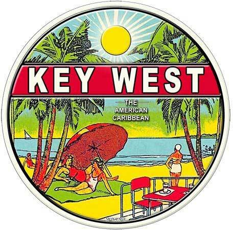 KEY WEST AMERICAN CARIBBEAN * 8'' x 8''