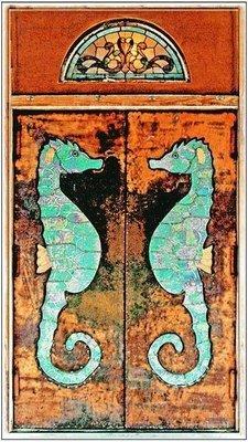 SEA HORSE DOORS * 4'' x 11''