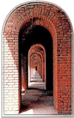FORT JEFFERSON ARCHES * 6'' x 11''