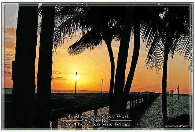 7 MILE BRIDGE SUNSET  * 7'' x 11'' 10294