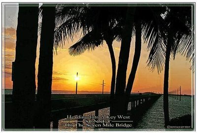 7 MILE BRIDGE SUNSET  * 7'' x 11''