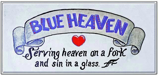 HEAVEN ON FORK SIN IN A GLASS * 5'' x 11''