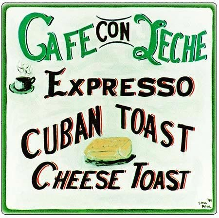 CAFE CON LECHE * 8'' x 11'' 10320