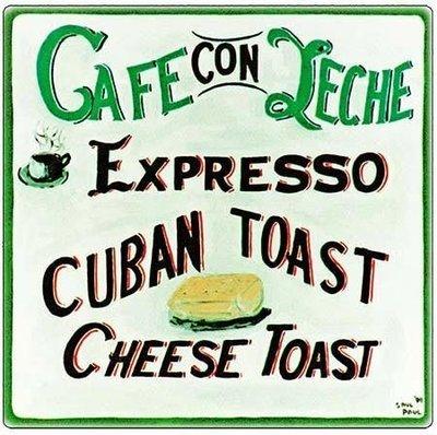 CAFE CON LECHE * 8'' x 11''