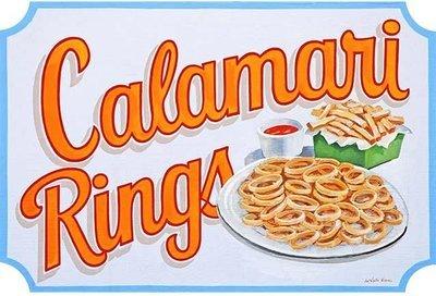 CALAMARI RINGS * 6'' x 11''