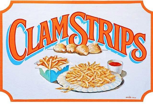 CLAM STRIPS * 7'' x 11''