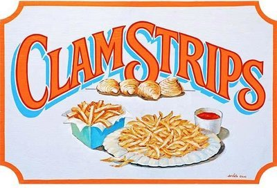 CLAM STRIPS * 7'' x 11''