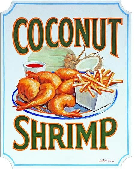 COCONUT SHRIMP * 7'' x 11'' 10326