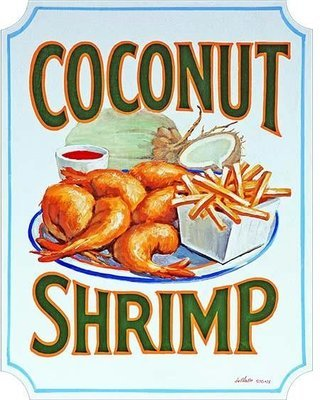 COCONUT SHRIMP * 7'' x 11''
