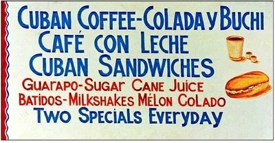 CUBAN COFFEE COLADA * 6'' x 11''