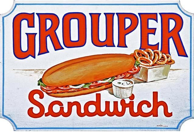GROUPER SANDWICH * 7'' x 11'' 10335