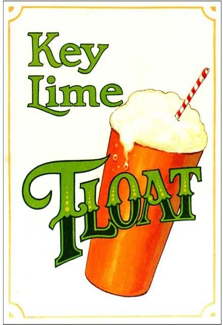 KEY LIME FLOAT * 7'' x 11'' 10343