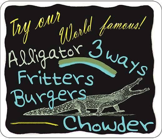 TRY OUR ALLIGATOR * 8 ''x 9''