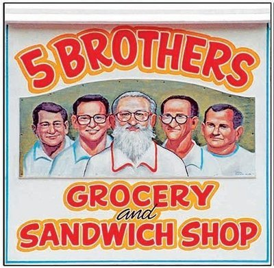 5 BROTHERS SIGN * 8'' x 8''