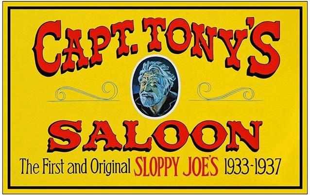 CAPT. TONY'S SALOON * 8'' x 11'' 10374