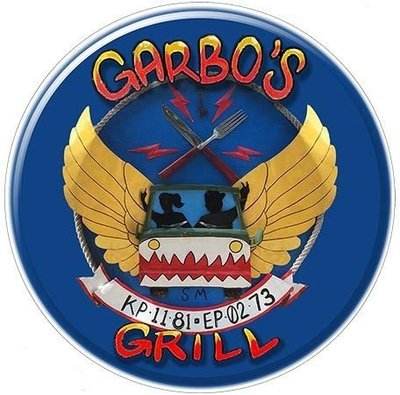 GARBO'S GRILL * 8'' x 8''