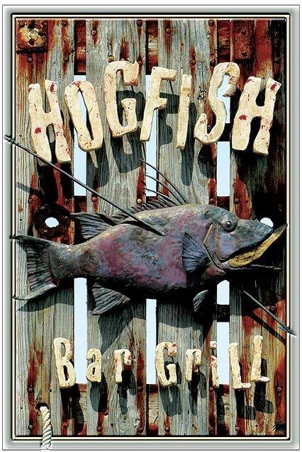 HOGFISH BAR & GRILL * 6'' x 11'' 10386