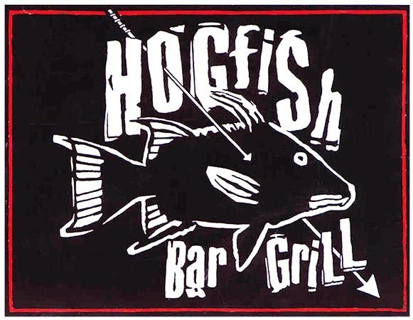 HOGFISH BLACK & WHITE * 8'' x 11'' 10387