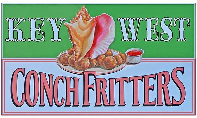 KEY WEST CONCH FRITTERS * 5'' x 11'' 10394