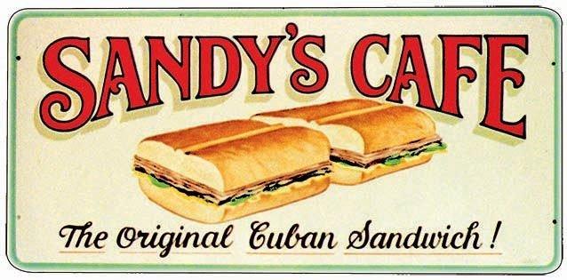 SANDY'S CAFE * 5'' x 11'' 10420