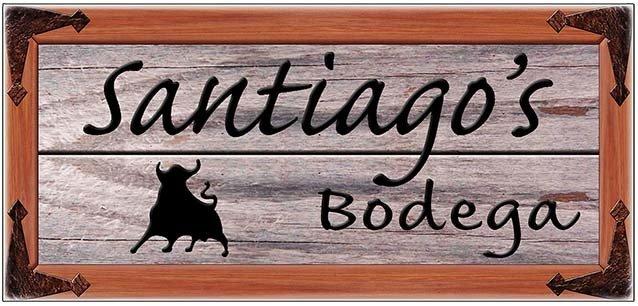 SANTIAGO'S BODEGA * 4'' x 11'' 10421