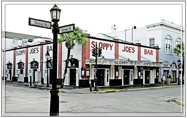 SLOPPY JOE'S CORNER VIEW * 7'' x 11'' 10424