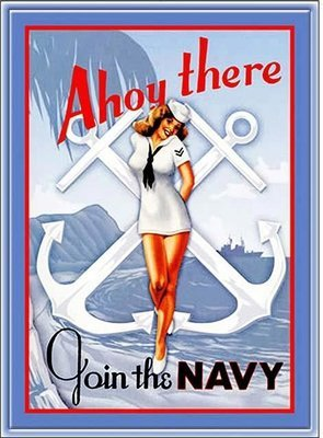 AHOY THERE JOIN THE NAVY * 7'' x 11''