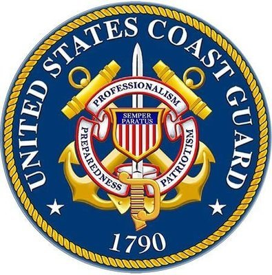 COAST GUARD SEAL * 8'' x 8''