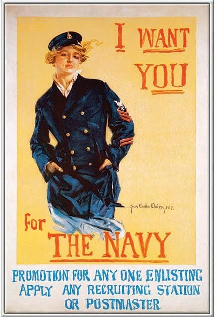 I WANT YOU FOR THE NAVY * 7'' x 11'' 10438