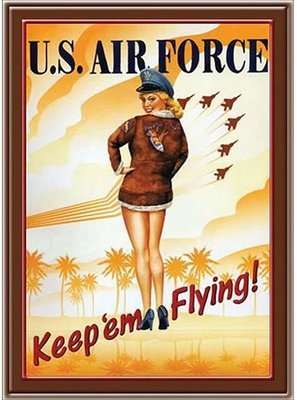 KEEP'EM FLYING AIR FORCE * 7'' x 11''