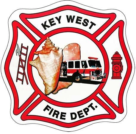 KEY WEST FIRE DEPT LOGO * 8'' x 8'' 10440