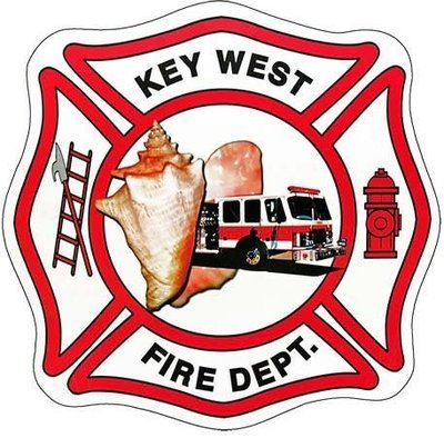 KEY WEST FIRE DEPT LOGO * 8'' x 8''