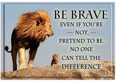 BE BRAVE  * 7'' x 11''