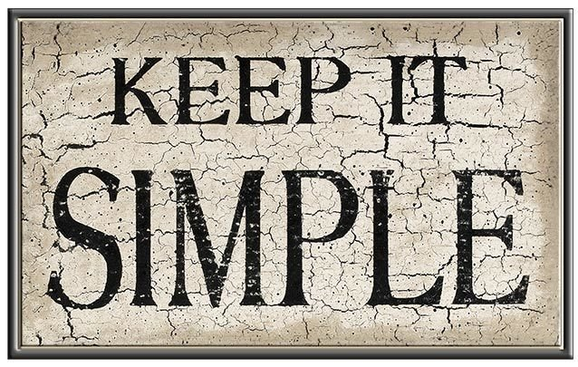 KEEP IT SIMPLE * 6'' x 11'' 10453