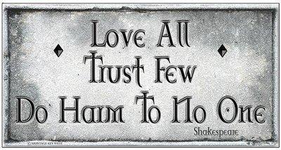LOVE ALL * 5'' x 11''