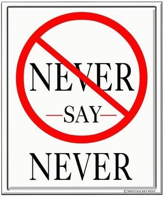 NEVER SAY NEVER * 8'' x 10''