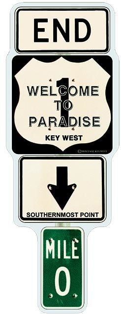 END 1 WELCOME TO PARADISE  * 3'' x 11''