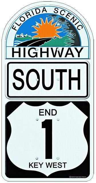 END 1 SOUTH KEY WEST * 6'' x 11'' 10470