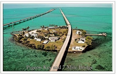 PIGEON KEY & 7 MILE BRIDGE * 6'' x 11''