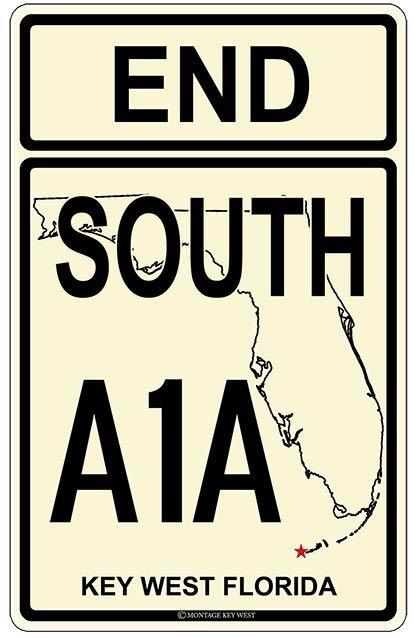 END SOUTH A1A KEY WEST * 7'' x 11'' 10473