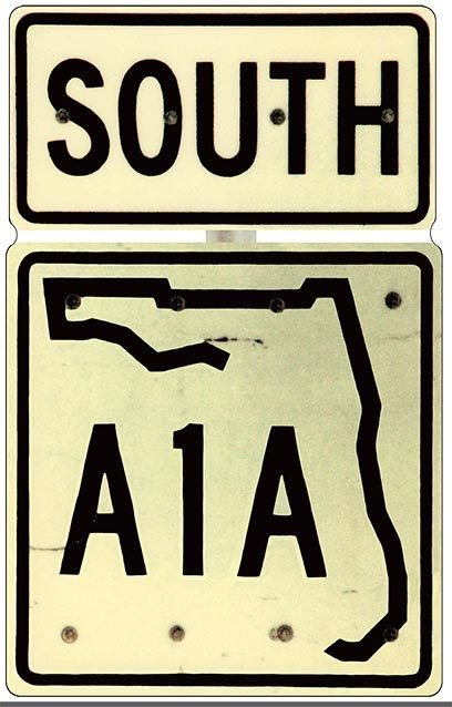 A1A SOUTH *  7'' x 11'' 10477