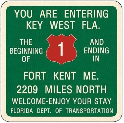 YOU ARE ENTERING KEY WEST * 8'' x 9''