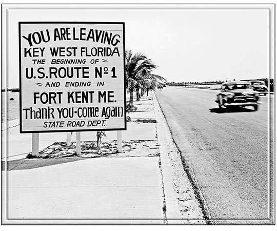 YOU ARE LEAVING KEY WEST VINTAGE * 8'' x 11'' 10482