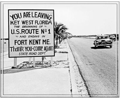 YOU ARE LEAVING KEY WEST VINTAGE * 8'' x 11''