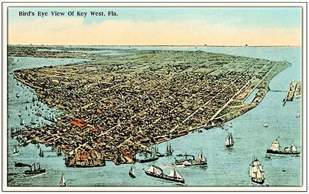 BIRDS EYE VIEW POSTCARD * 7'' x 11'' 10487