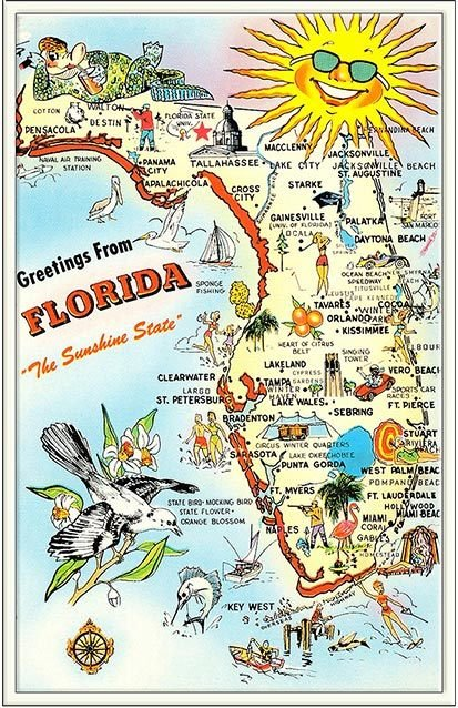 GREETINGS FROM SUNSHINE STATE  * 6'' x 11''