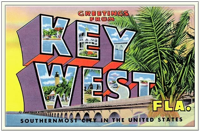 GREETINGS FROM SOUTHERMOST FL * 6'' x 11''