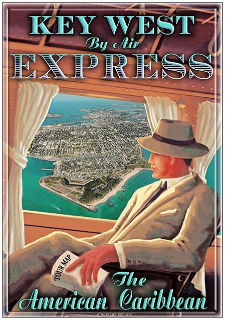 KEY WEST BY AIR EXPRESS * 7'' x 11''